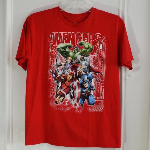 Marvel Comics Avengers Boy/'s Youth Stylish T-Shirt Sizes XS S M L XL NWT